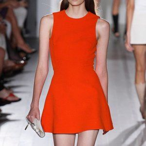 Victoria Beckham Hexagonal Matte Crepe Dress